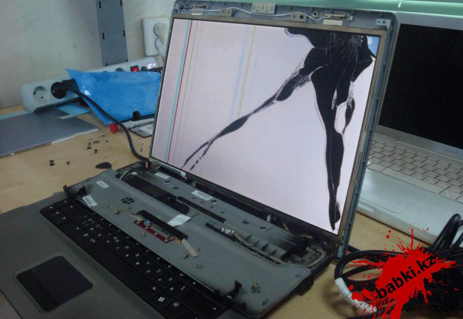 разбитый монитор